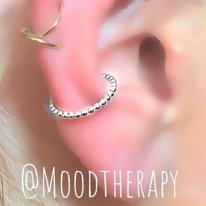 925S Beaded Ear Cuff Fake Cartilage Earring